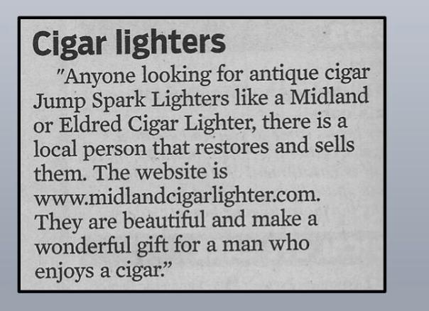 Cigar Ad