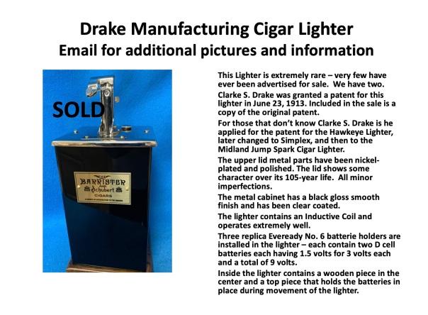 Drake #1 Sold